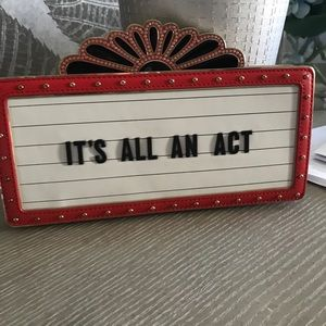 It's all an act Kate Spade Clutch